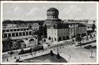 Ak Poznań Posen, Blick auf die Messehallen, Straßenbahn, Stadtansicht
