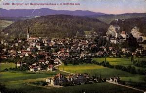 Ak Burgdorf Kt. Bern Schweiz, Stadtpanorama von der Rothöhe aus