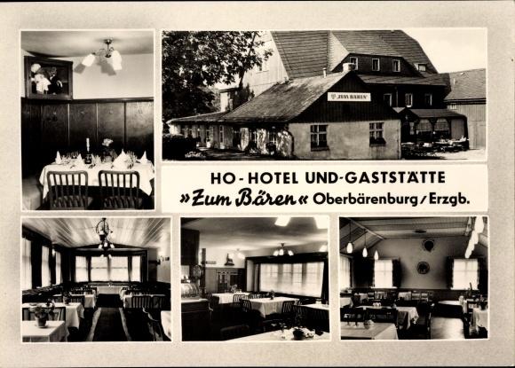 Ak Bärenburg Altenberg im Osterzgebirge, HO Hotel und Gaststätte Zum Bären