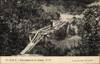 Ak Äquatorialguinea Französisch Äquatorialafrika, Pont rustique sur un ruisseau, Brücke