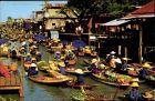 Ak Thailand, Floating Market, Markt auf Booten, Touristenattraktion