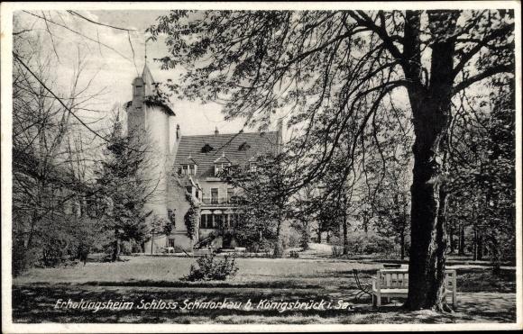Ak Schmorkau Neukirch in Sachsen, Teilansicht vom Erholungsheim Schloss Schmorkau