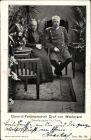 Ak Generalfeldmarschall Graf von Waldersee, Oberfeldherr in China, Portrait mit Gattin,Boxeraufstand