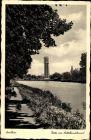 Ak Genthin am Elbe Havel Kanal, Partie am Mittellandkanal, Uferpromenade