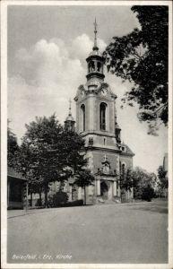 Ak Grünhain Beierfeld im Erzgebirge Sachsen, Blick auf die Kirche
