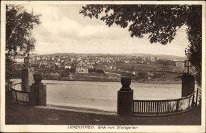 Ak Lüdenscheid im Märkischen Kreis, Blick auf die Stadt vom Stadtgarten