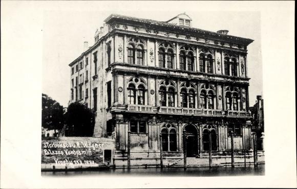 Foto Ak Venezia Venedig Veneto, Sterbehaus von R. Wagner, Palazzo Vendramin, 1883