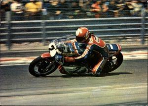 Ak Französischer Rennfahrer Christian Estrosi auf einem Motorrad, Yamaha 750 TZ, Nummer 20
