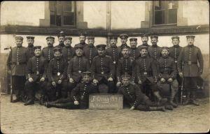 Foto Ak Deutsche Soldaten in Uniformen, Feldzug 1914 bis 1915, 16. Korporalschaft, I. WK