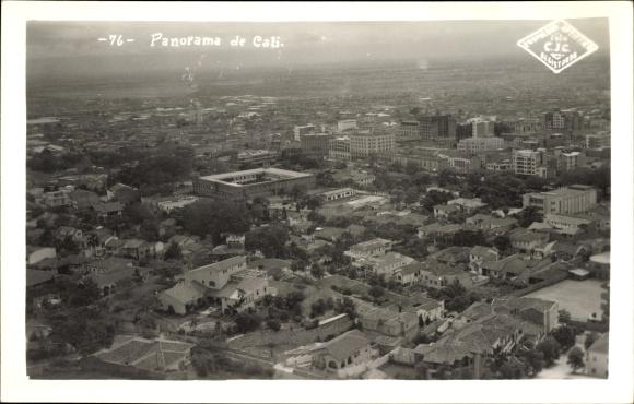 Ak Cali Kolumbien, Panoramablick auf die Stadt