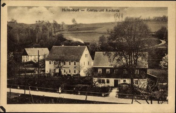 Ak Hellendorf Bad Gottleuba in Sachsen, Restaurant Keckritz