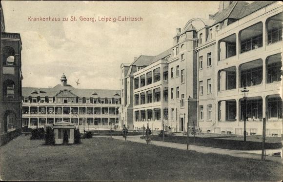 Ak Eutritzsch Leipzig In Sachsen Krankenhaus Zu St Georg Nr