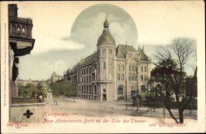 Ak Hannover in Niedersachsen, Blick auf Neue Hannoversche Bank, Ecke Theater- und Georgplatz