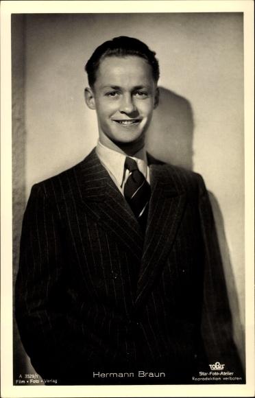 Ak Schauspieler Hermann Braun, Portrait, Nr. A 3529/1