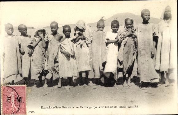 Ak Beni Abbès Algerien, Extrême Sud Oranais, Petits garcons de l'Oasis, Jungen