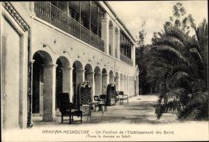 Ak Hamman Meskoutine Algerien, Un Pavillon de l'Etablissement des Bains