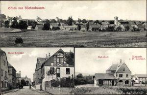 Ak Büchenbeuren Rheinland Pfalz, Ortschaft, Hotel Schüler, Bahnhof, Magazin J.F. Schüler