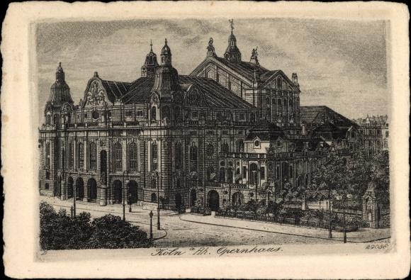 Künstler Ak Köln am Rhein, Opernhaus, Außenansicht