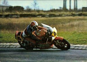 Ak Französischer Rennfahrer Christian Leon auf einem Motorrad, Honda 860cc, Nummer 4