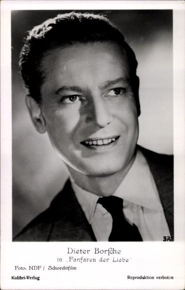 Ak Schauspieler Dieter Borsche, Portrait aus Fanfaren der Liebe, Nr. 372