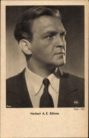 Ak Schauspieler Herbert A. E. Böhme, Portrait