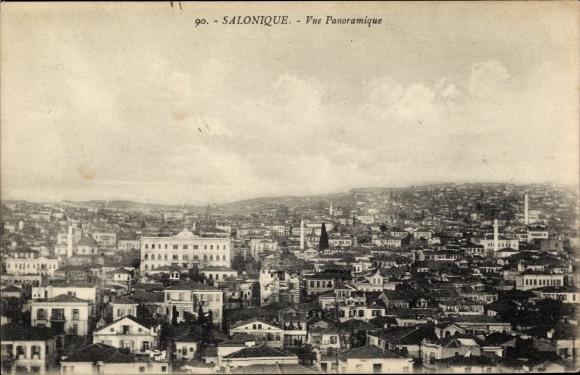 Ak Thessaloniki Griechenland, Vue Panoramique, Totalansicht der Stadt