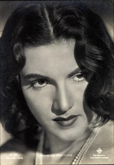 Ak Schauspielerin Annelies Reinhold, Portrait, UFA Film G 159