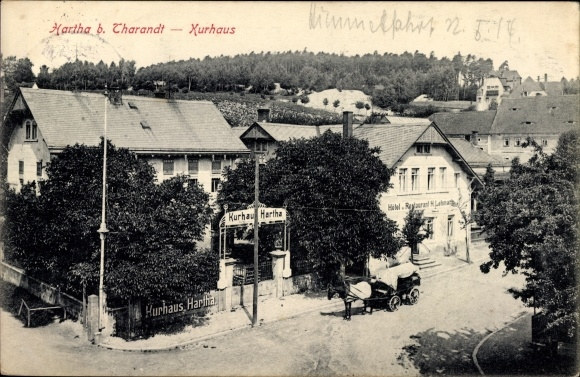 Ak Hartha Hintergersdorf Tharandt im Erzgebirge, Blick auf das Kurhaus Hartha