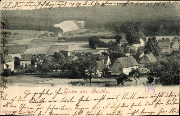 Ak Hartha Hintergersdorf Tharandt im Erzgebirge, Blick auf den Ort mit Umgebung