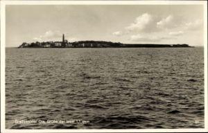 Ak Greifswalder Oie Kröslin Ostsee, Blick vom Meer zur Insel