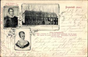 Ak Bad Bramstedt in Schleswig Holstein, König Christian IV. von Dänemark, Wibecke Kruse, Gutsgebäude
