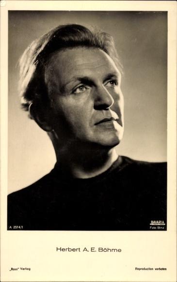 Ak Schauspieler Herbert A. E. Böhme, Portrait, Ross Verlag Nr. A 2514/1