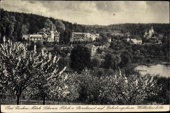 Ak Buckow in der Märkischen Schweiz, Blick vom Storchennest auf Erholungsheim Wilhelmshöhe