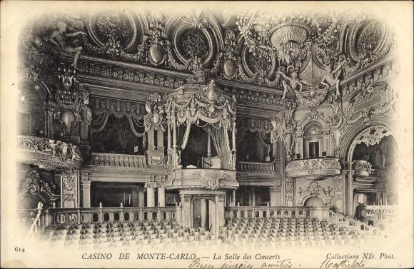 Ak Monte Carlo Monaco, La Salle des Concerts, Konzertsaal im Casino