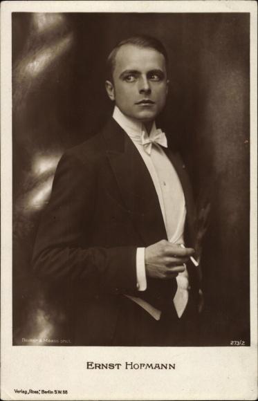 Ak Schauspieler Ernst Hofmann, Portrait, Zigarette, Smoking, Ross Verlag 273 2