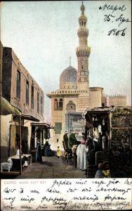 Ak Cairo Kairo Ägypten, Mosk Kait Bey, Moschee, Minarett