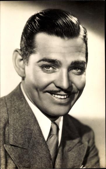 Ak Schauspieler Clark Gable, Portrait im Anzug, Schnurrbart