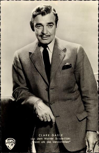 Ak Schauspieler Clark Gable, Portrait, Weint um die Verdammten, Warner Bros