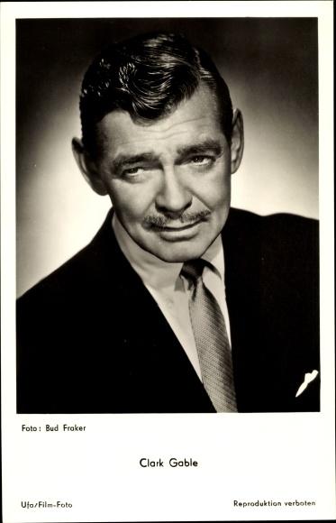 Ak Schauspieler Clark Gable, Portrait im Anzug, Ufa Film