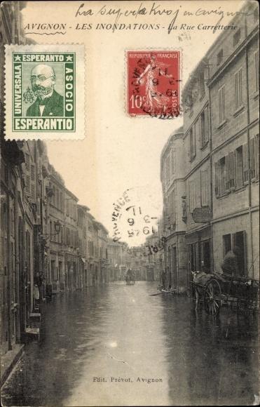 Ak Avignon Vaucluse, Les Inondations, La Rue Carretterie