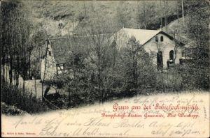 Ak Kleinschönberg Klipphausen Sachsen, Schiebocksmühle, Dampfschiffstation Gauernitz