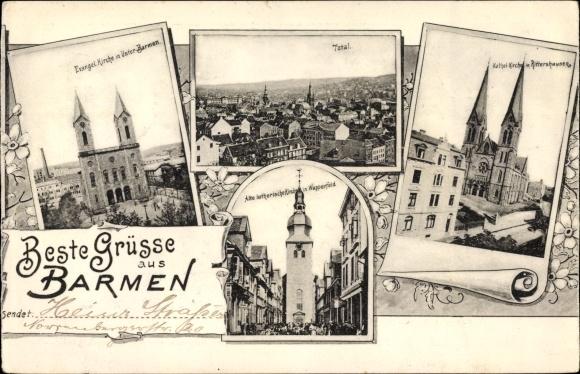 Ak Barmen Wuppertal in Nordrhein, Evangelische Kirche, Alte Lutherische Kirche, Katholische Kirche