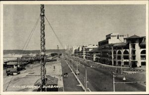 Ak Durban Südafrika, Street View of the Marine Parade
