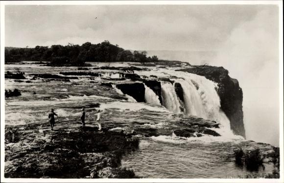 Ak Victoria Falls Zimbabwe Simbabwe, Rapids above the Main Falls, Wasserfall