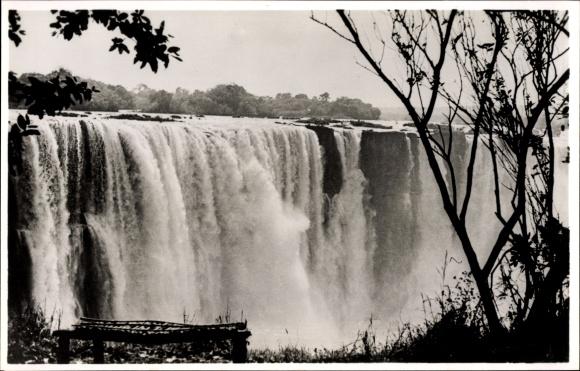 Ak Victoria Falls Zimbabwe Simbabwe, View of the Main Falls from the Rainforest, Wasserfall