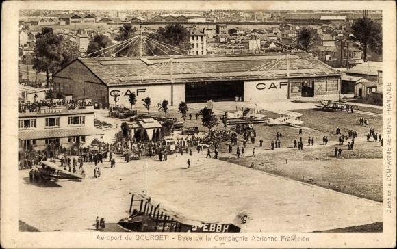 Ak Le Bourget Seine Saint Denis, Aéroport, Base de la Compagnie Aérienne Francaise, CAF