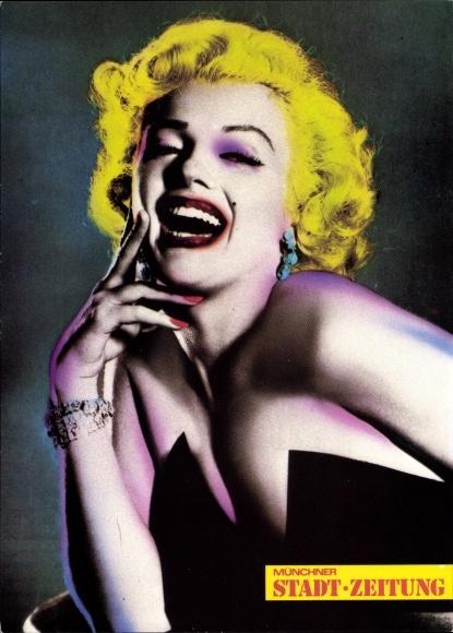 Künstler Ak Schauspielerin Marilyn Monroe, Titelseite Münchner Stadt Zeitung