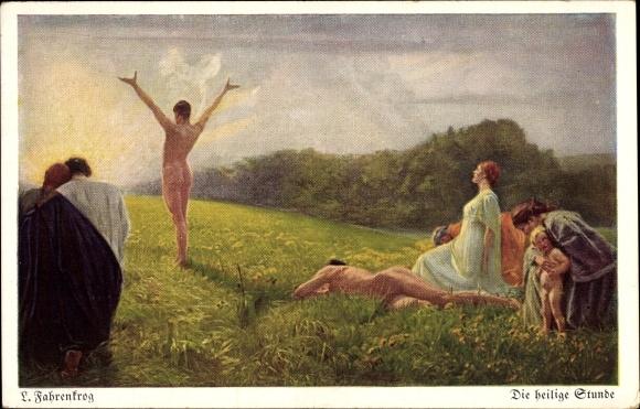 Künstler Ak Fahrenkrog, Ludwig, Die heilige Stunde, Wiechmann Bildkarte Nr 301