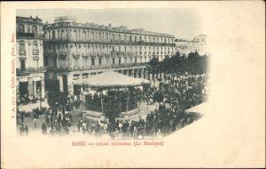 Ak Annaba Bône Algerien, Cours National, La Musique, Pavillon