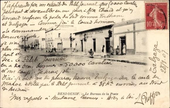Ak Beni Ounif Algerien, Le Bureau de la Post, Straßenpartie